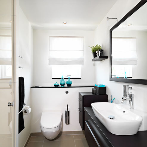 Løsninger til små badeværelser