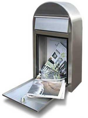 Postkasse åben