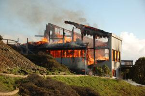 Brand i hus